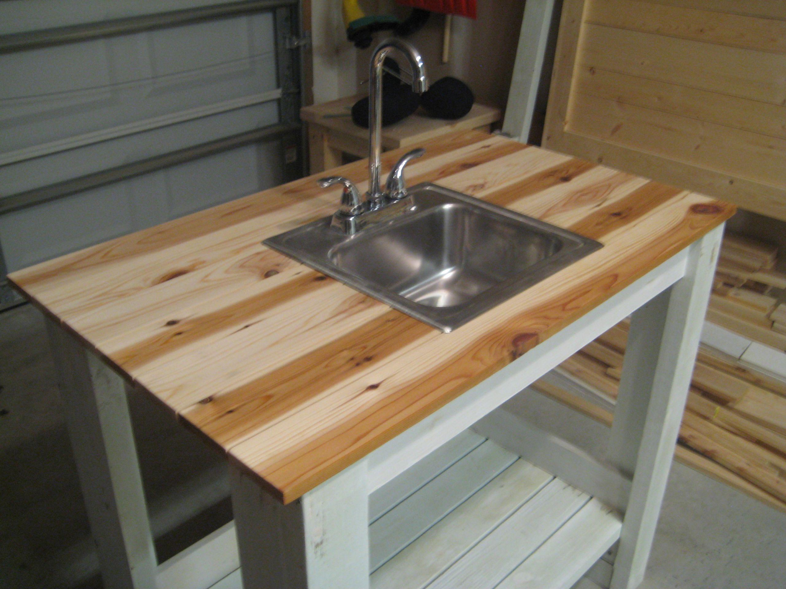 Outdoor Kitchen Sink  Garden and Picture design Outdoor garden sink plans