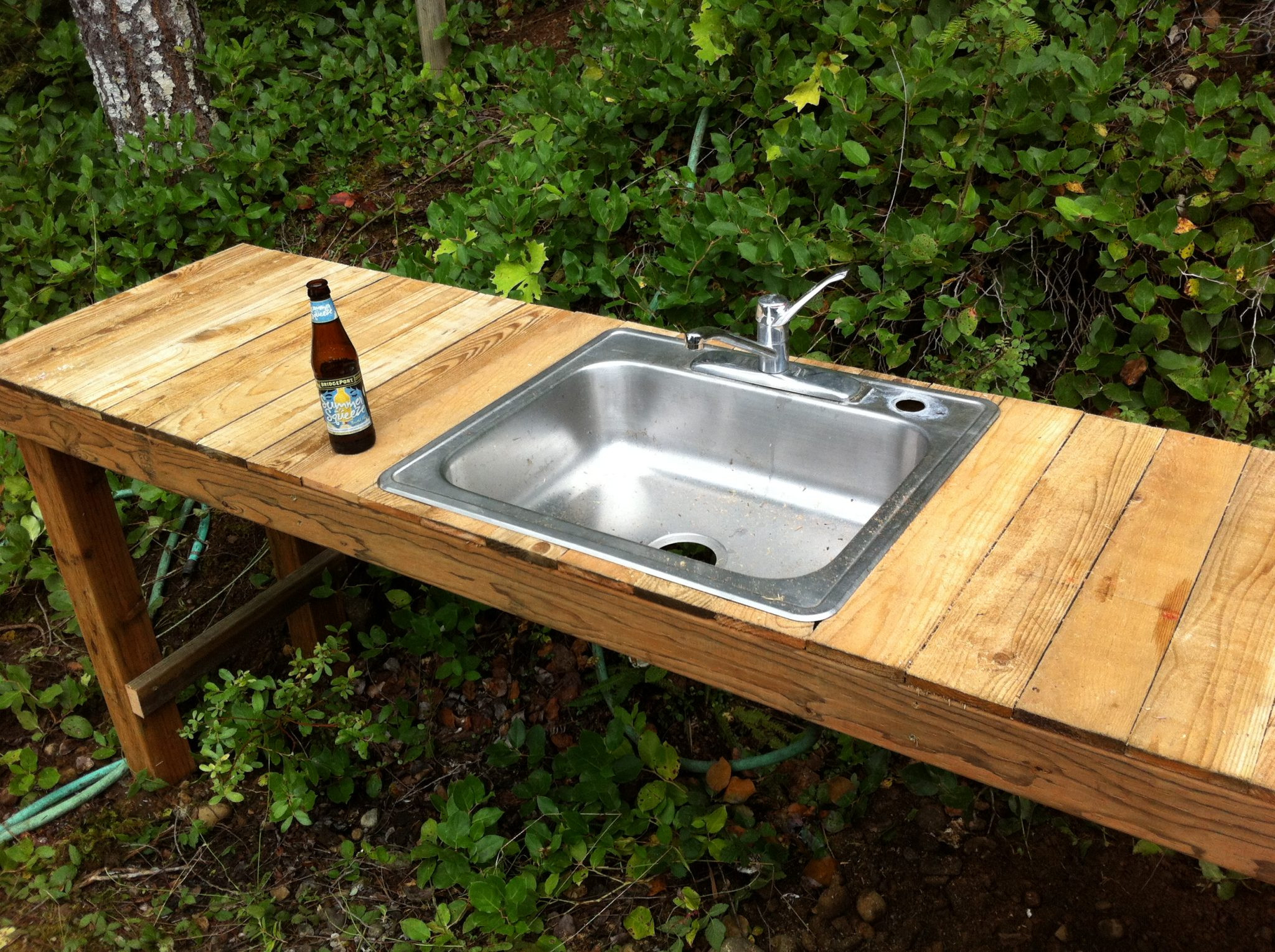 Outdoor Kitchen Sink  f Grid Rain Water Collection System Upgrade Part 2