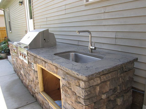 Outdoor Kitchen Sink  Three Outdoor Kitchens For Your House Too Networx