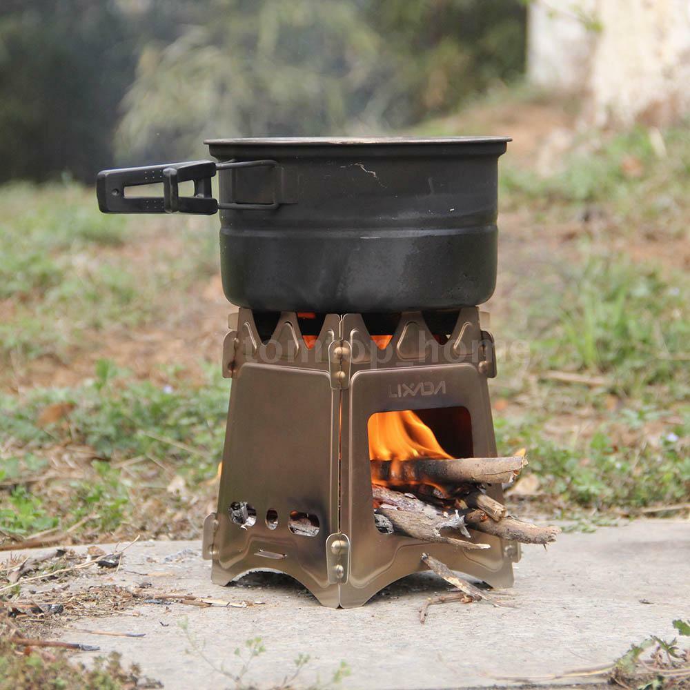 Outdoor Kitchen Stove  LIXADA OUTDOOR CAMPING COOKING FOLDING WOOD STOVE POCKET