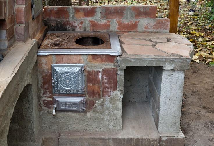 Outdoor Kitchen Stove  wood cookstove