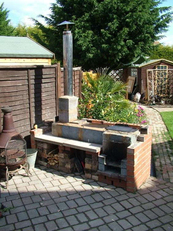 Outdoor Kitchen Stove  outdoor kitchen with rocket stoves & oven