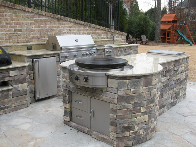 Outdoor Kitchen Stove  Outdoor Kitchen Installations with Evo Circular Cooktop