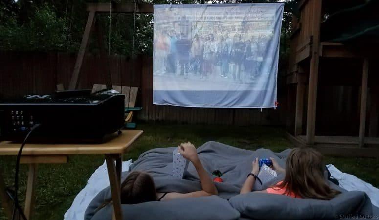 Outdoor Movie Screen DIY  20 Super Cool Ideas for Backyard Fun for Kids