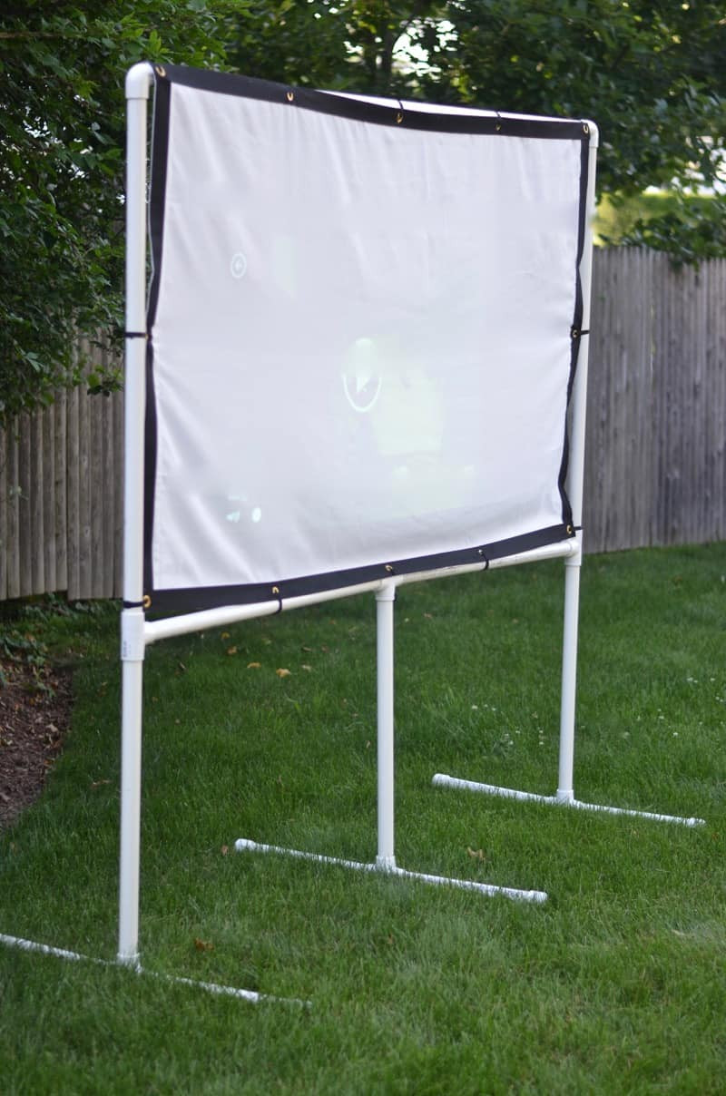 Outdoor Movie Screen DIY  DIY Backyard Movie Screen At Charlotte s House
