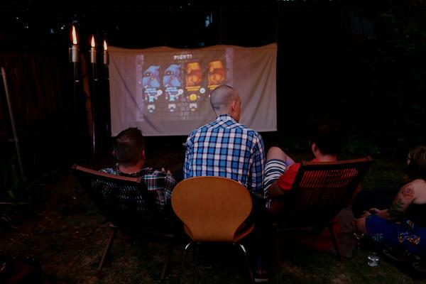 Outdoor Movie Screen DIY  Outdoor Movie Night DIY