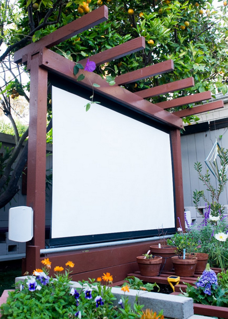 Outdoor Movie Screen DIY  Bring more entertainment to your backyard by building an