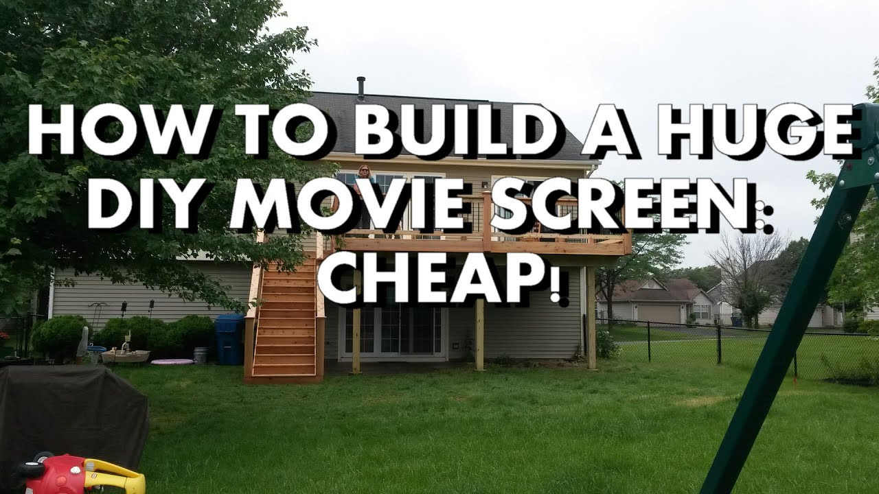Outdoor Movie Screen DIY  DIY How to build a Huge Backyard Movie Screen Cheap