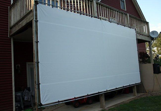 Outdoor Movie Screen DIY  DIY Outdoor Movie Screen Weekend Projects Bob Vila