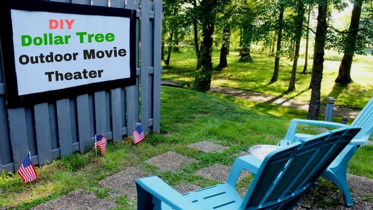 Outdoor Movie Screen DIY  Dollar Tree DIY Outdoor Movie Theater