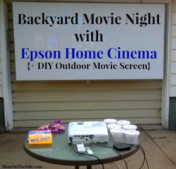 Outdoor Movie Screen DIY  Epson Home Cinema DIY Outdoor Movie Screen