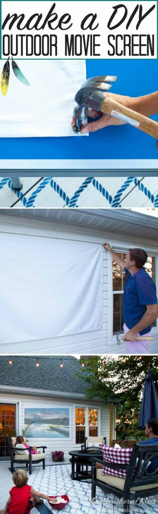 Outdoor Movie Screen DIY  How To Make