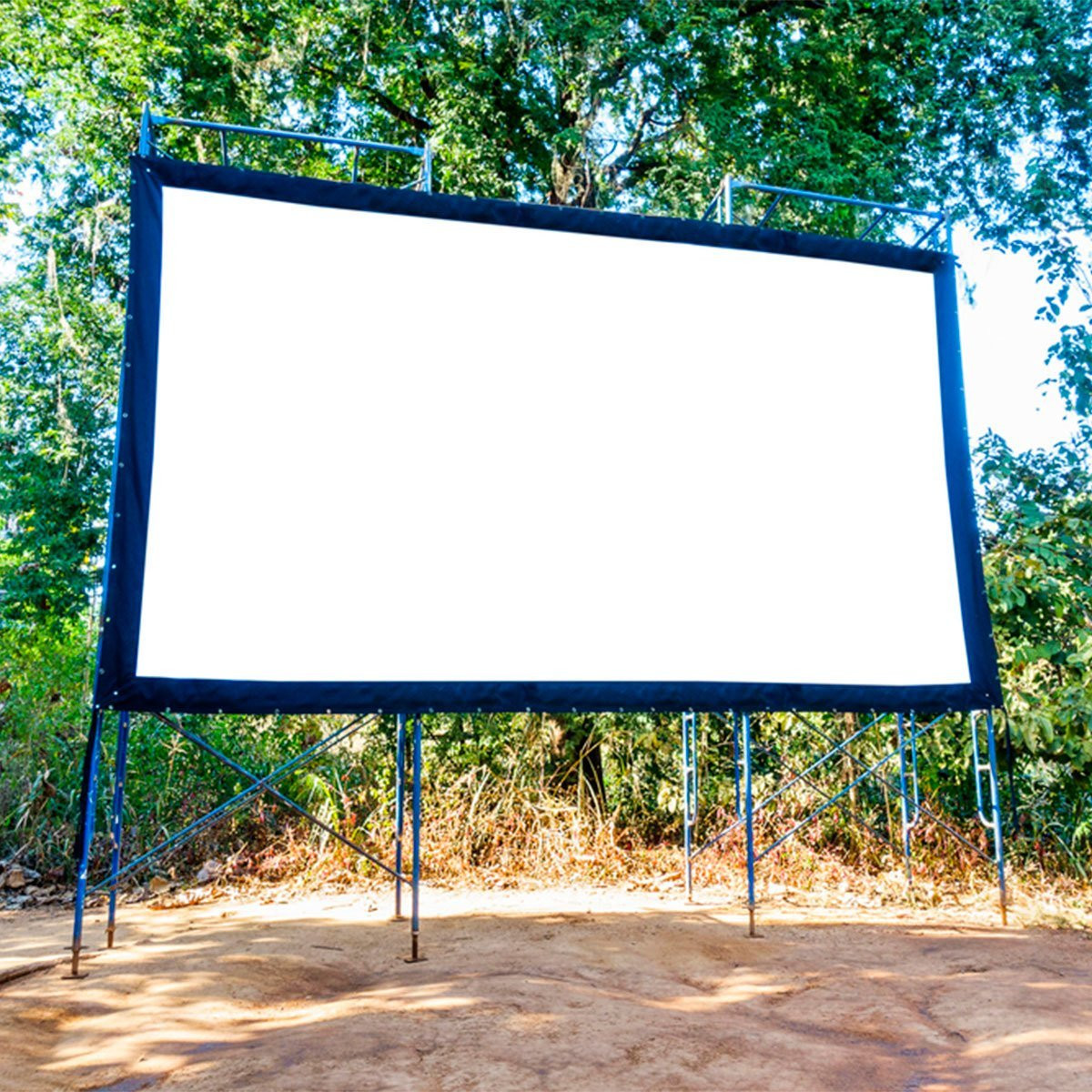 Outdoor Movie Screen DIY  What You Need for a DIY Backyard Movie Theater