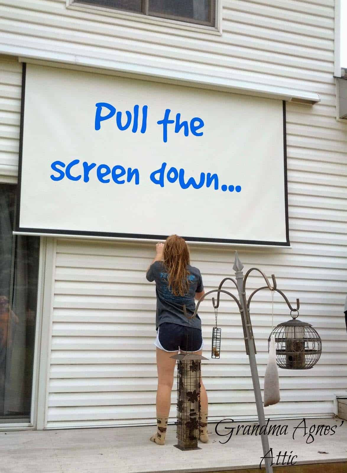 Outdoor Movie Screen DIY  20 Cool backyard movie theaters for outdoor entertaining