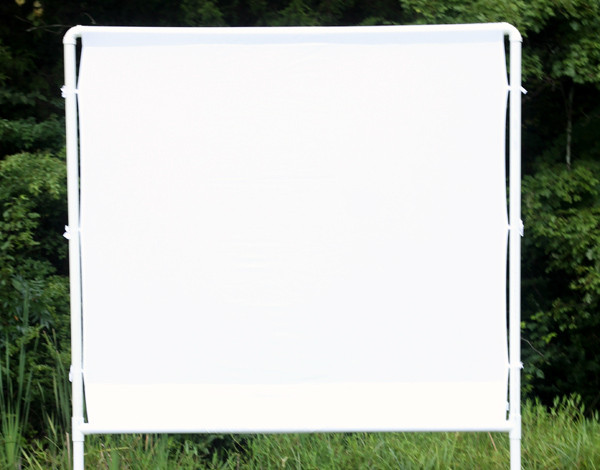 Outdoor Movie Screen DIY  How to make an easy DIY outdoor movie screen