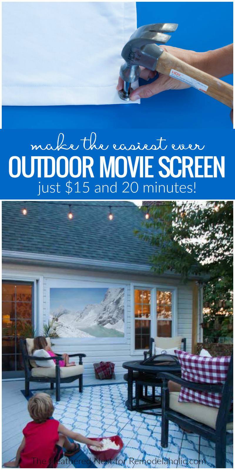 Outdoor Movie Screen DIY  Remodelaholic