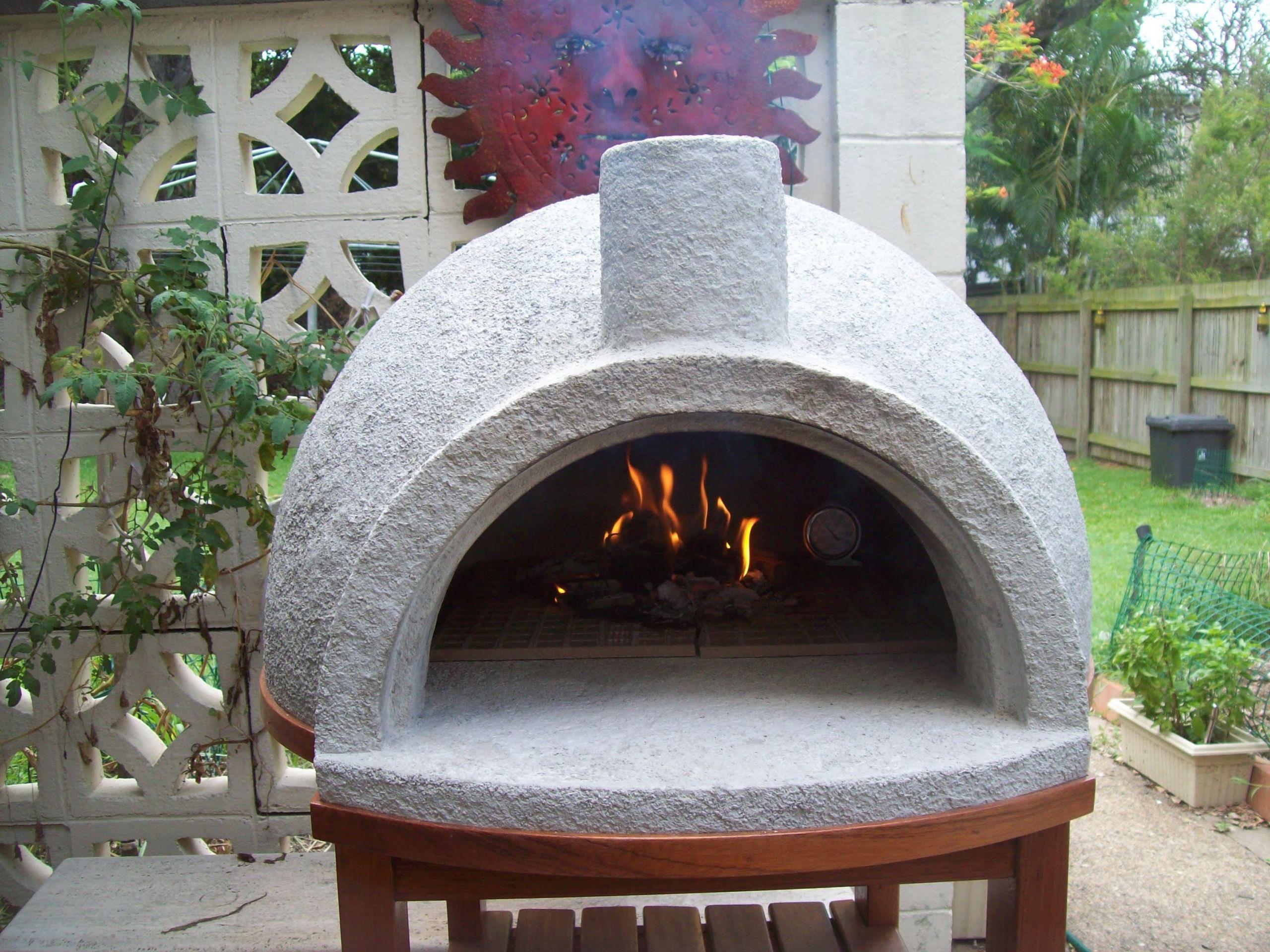 Outdoor Pizza Oven Plans DIY  vermiculite pizza oven