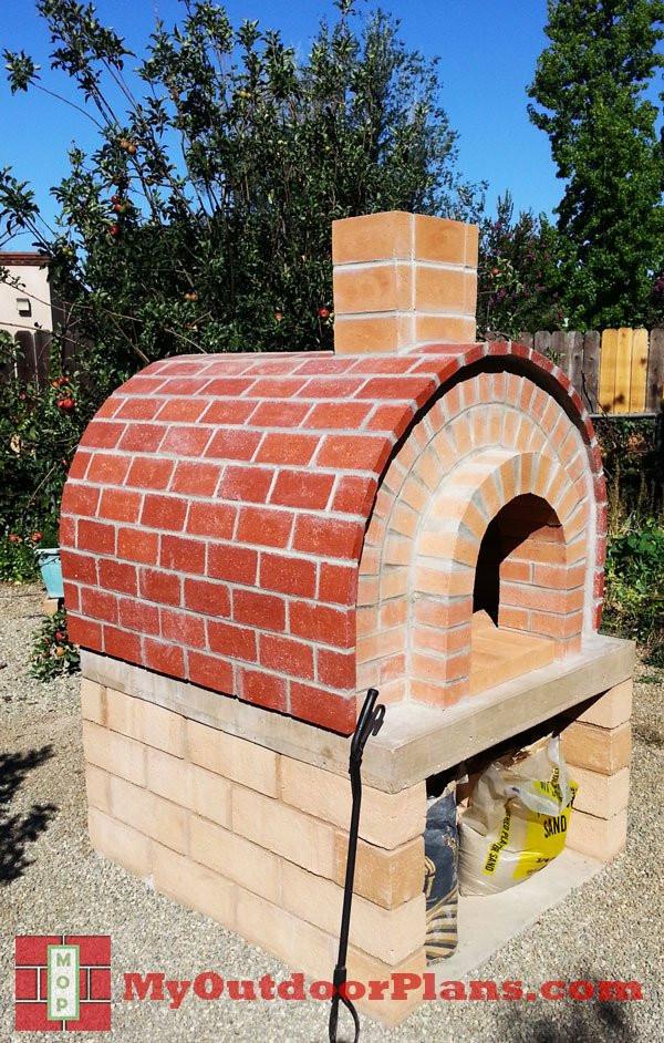 Outdoor Pizza Oven Plans DIY  DIY Brick Pizza Oven MyOutdoorPlans
