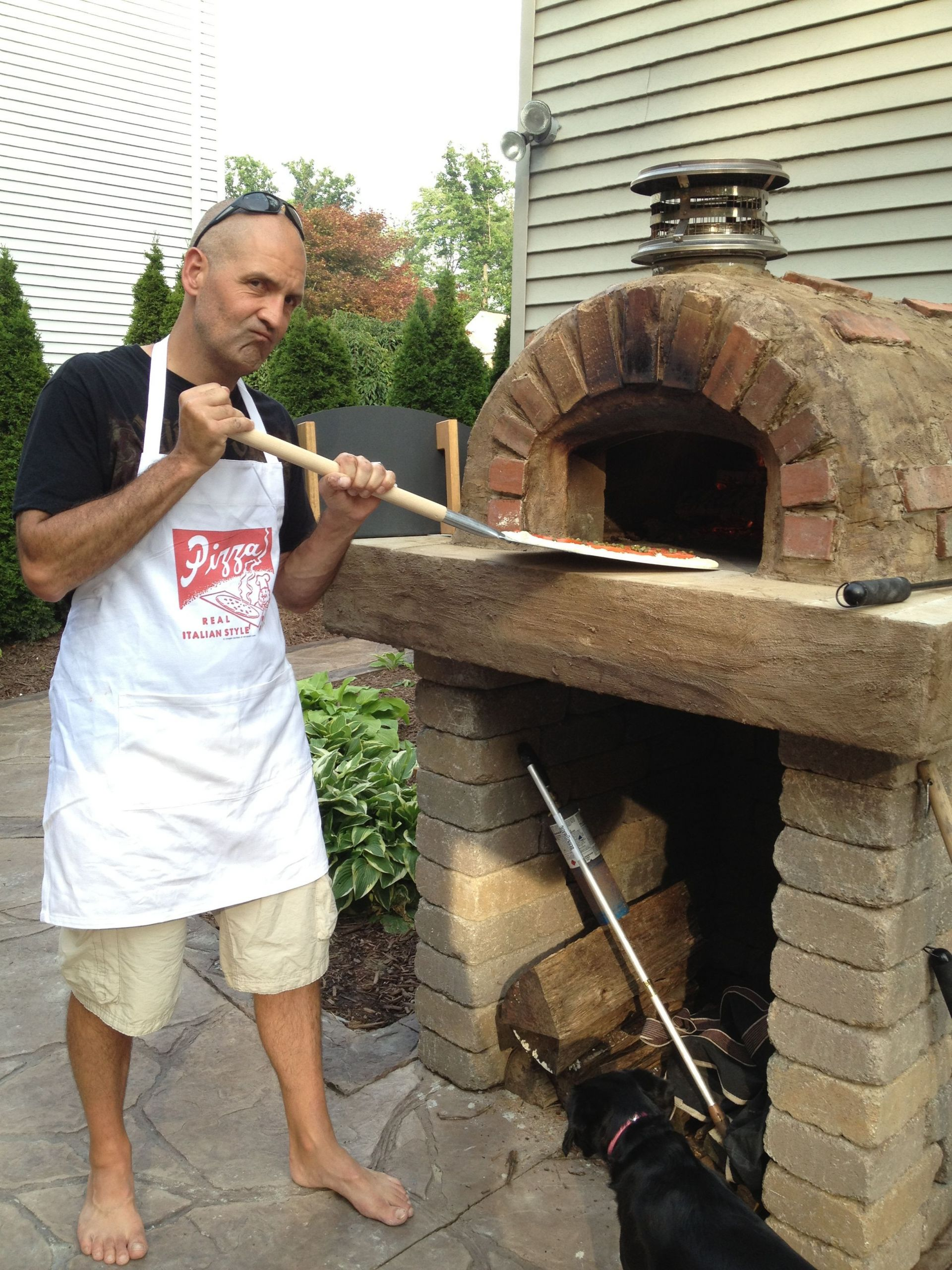 Outdoor Pizza Oven Plans DIY  Real Men Wear Aprons This DIY Wood Fired Outdoor Pizza