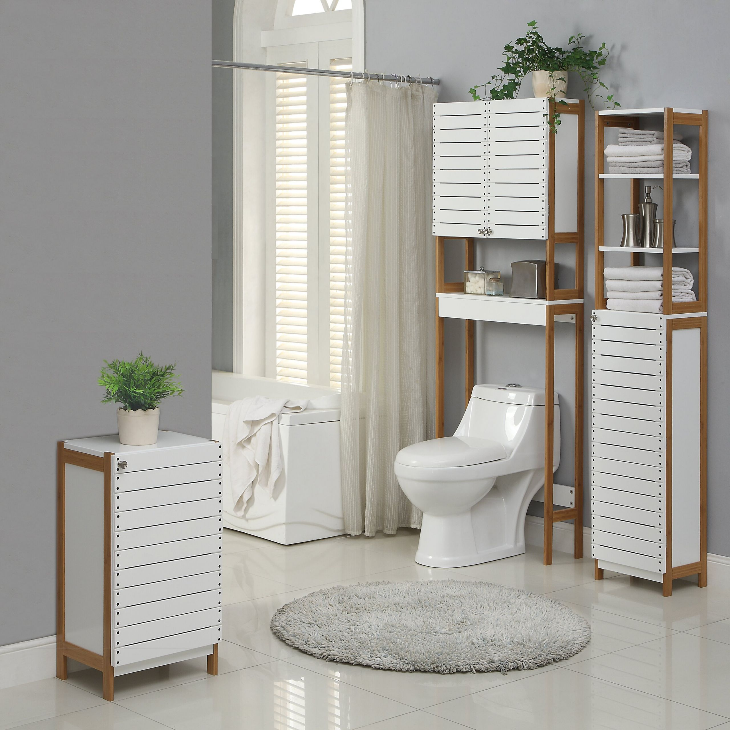 """Over The Toilet Bathroom Cabinets  OIA Rendition 23 62"""" x 70 25"""" Free Standing Over the"""
