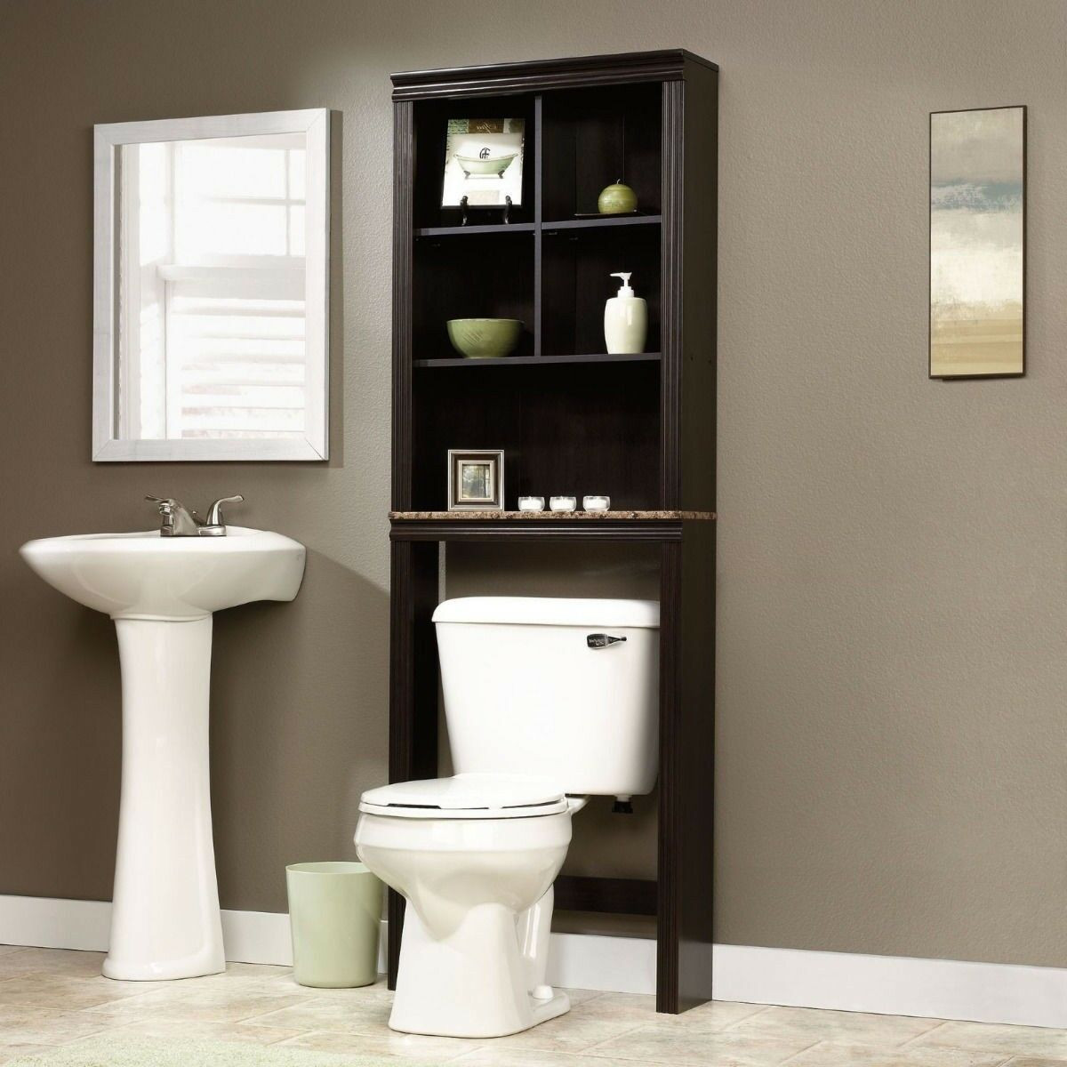 Over The Toilet Bathroom Cabinets  Bathroom Cabinet Over Toilet Shelf Space Saver Storage