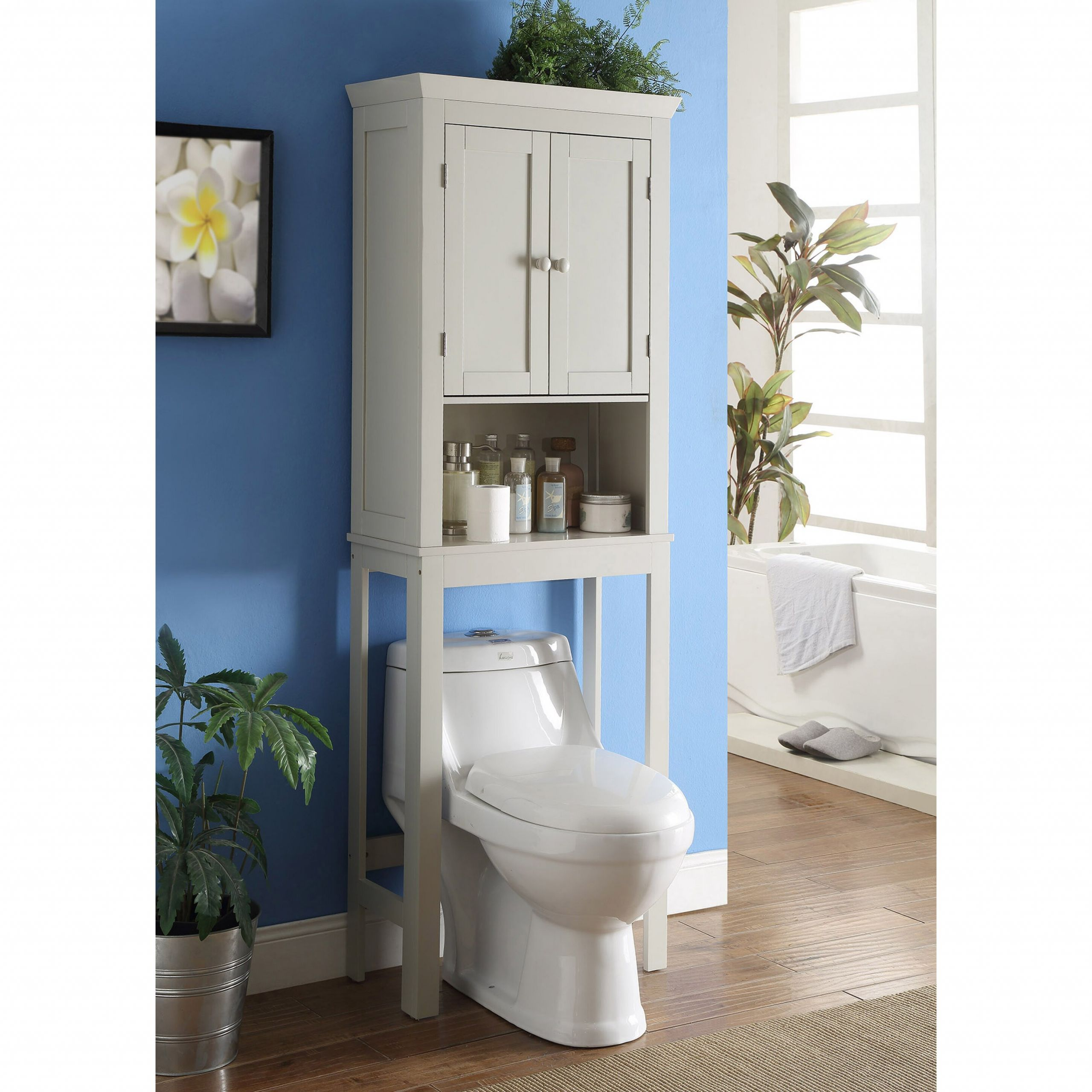 Over The Toilet Bathroom Cabinets  4D Concepts Rancho Bathroom Space Saver Over the Toilet