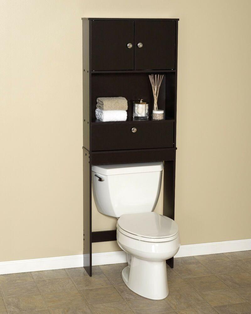 Over The Toilet Bathroom Cabinets  Zenith Drop Door Spacesaver Cabinet Over the Toilet