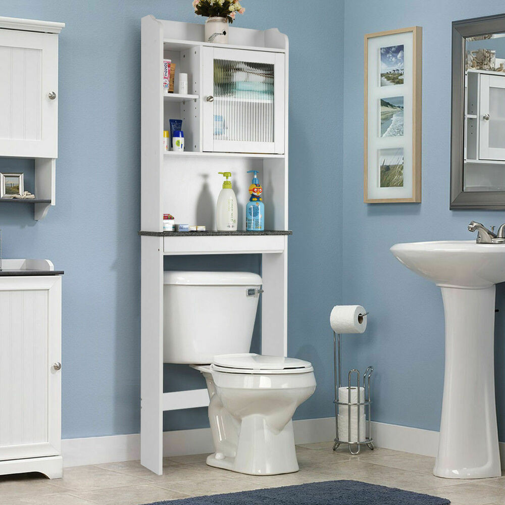 Over The Toilet Bathroom Cabinets  Over the Toilet Bath Cabinet Bathroom Space Saver Storage