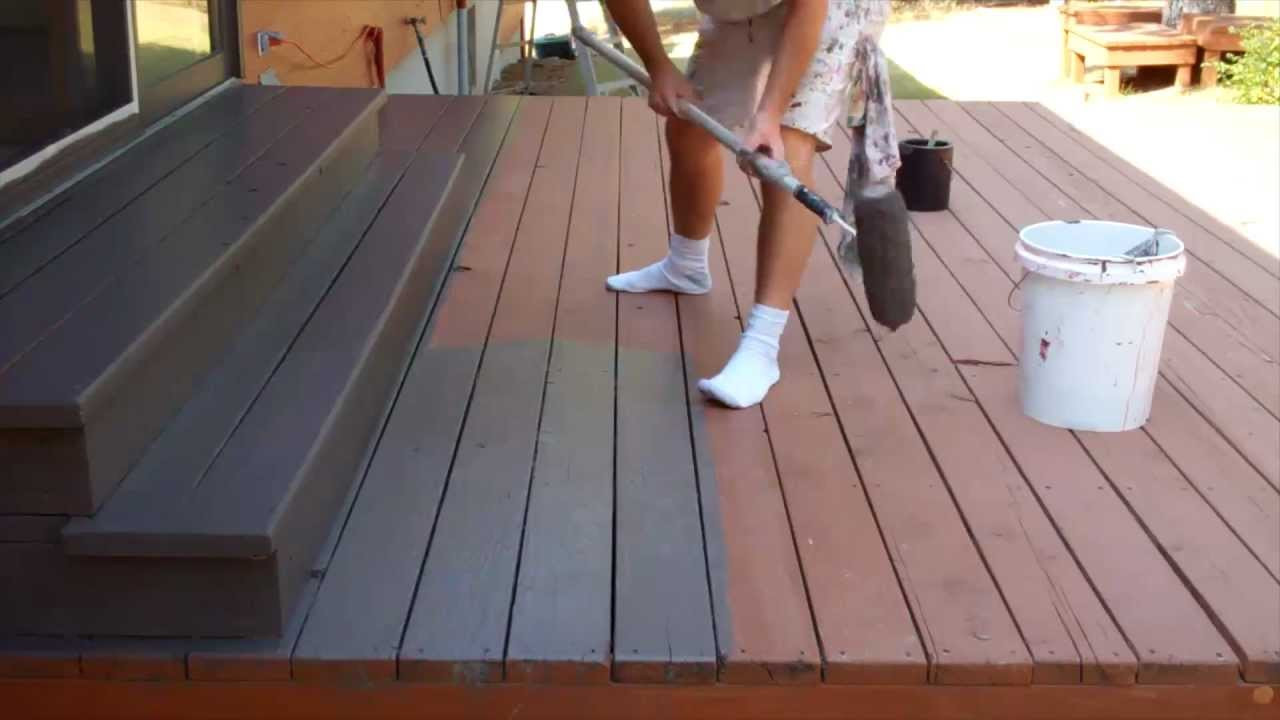 Paint A Deck  Exterior Painting Step 9 Staining the Deck