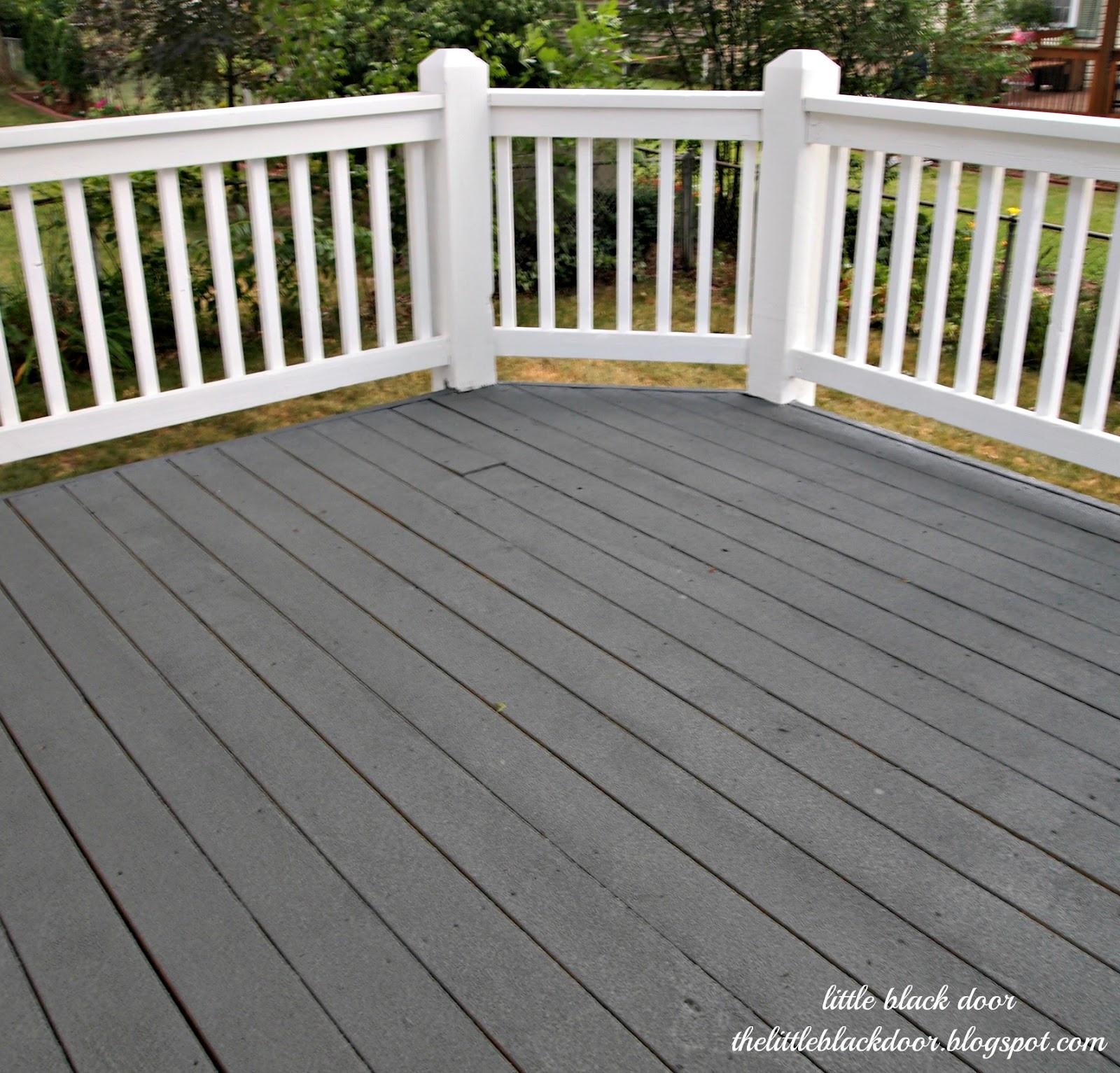 Paint A Deck  little black door i wear my sunglasses at night deck reveal