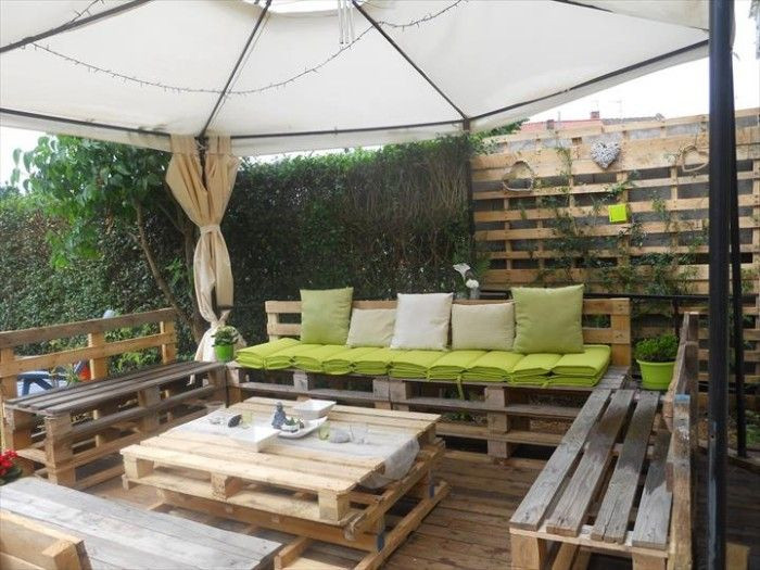 Pallet Backyard Furniture  11 Simple Pool Landscaping Ideas That Fit Your Bud