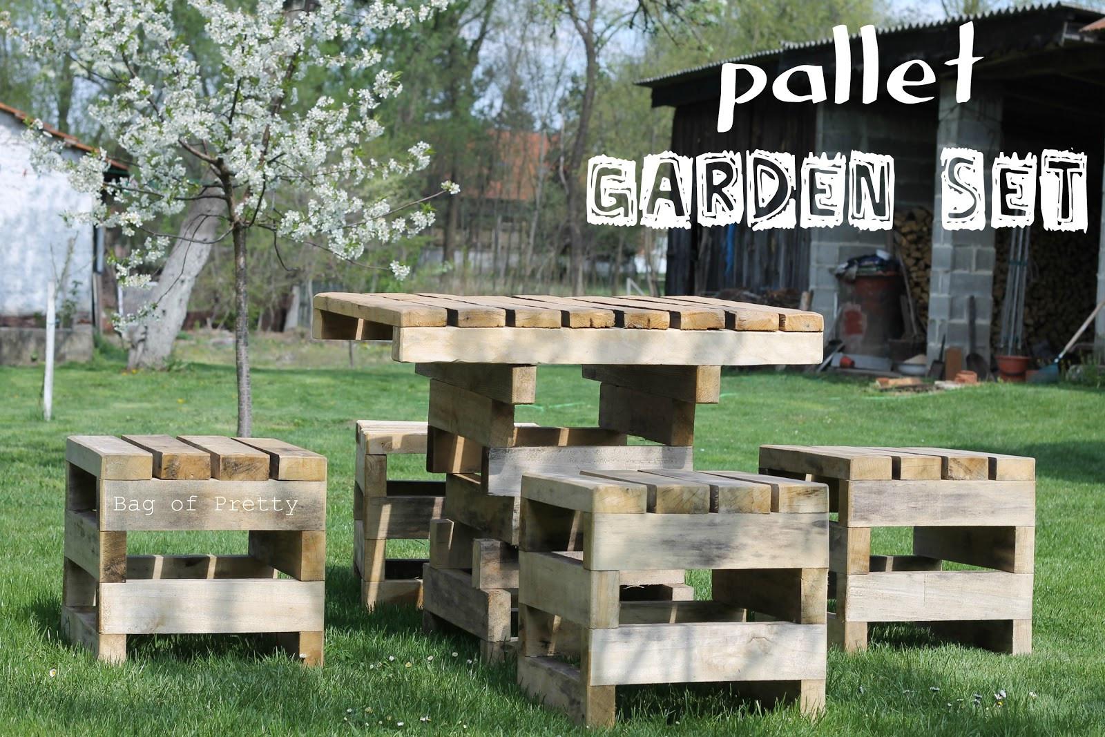 Pallet Backyard Furniture  Bag of pretty Surprise surprise pallet garden furniture