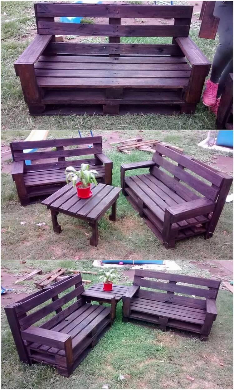 Pallet Backyard Furniture  Heart Touching Fresh Wood Pallets Reusing Ideas