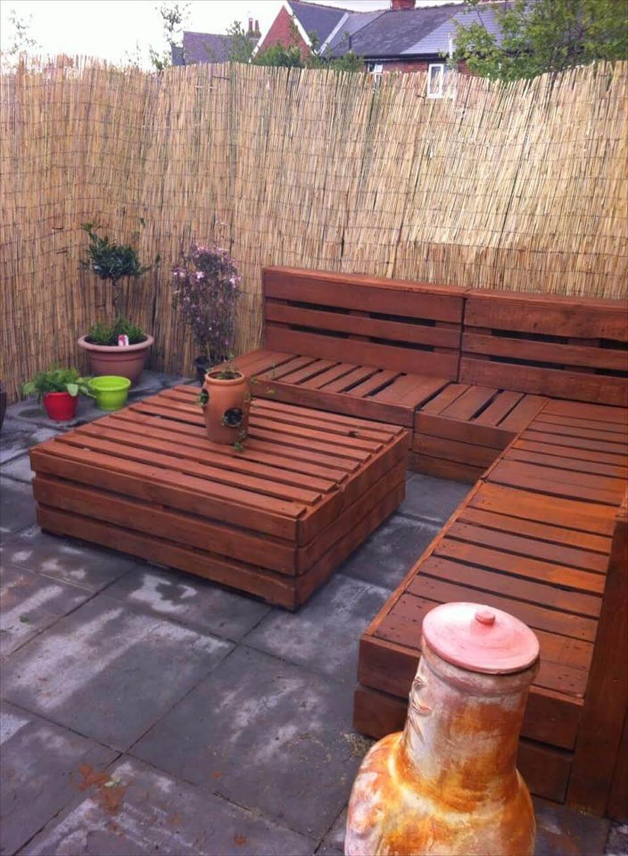 Pallet Backyard Furniture  Spectacular Pallet Patio Furniture Ideas