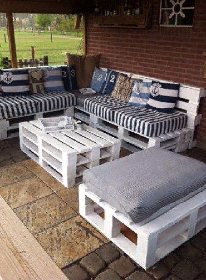 Pallet Backyard Furniture  Turn old pallets into patio furniture