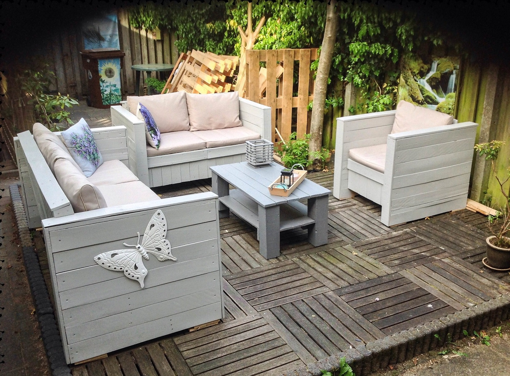 Pallet Backyard Furniture  Shipping Pallets Outdoor Furniture – Ideas with Pallets