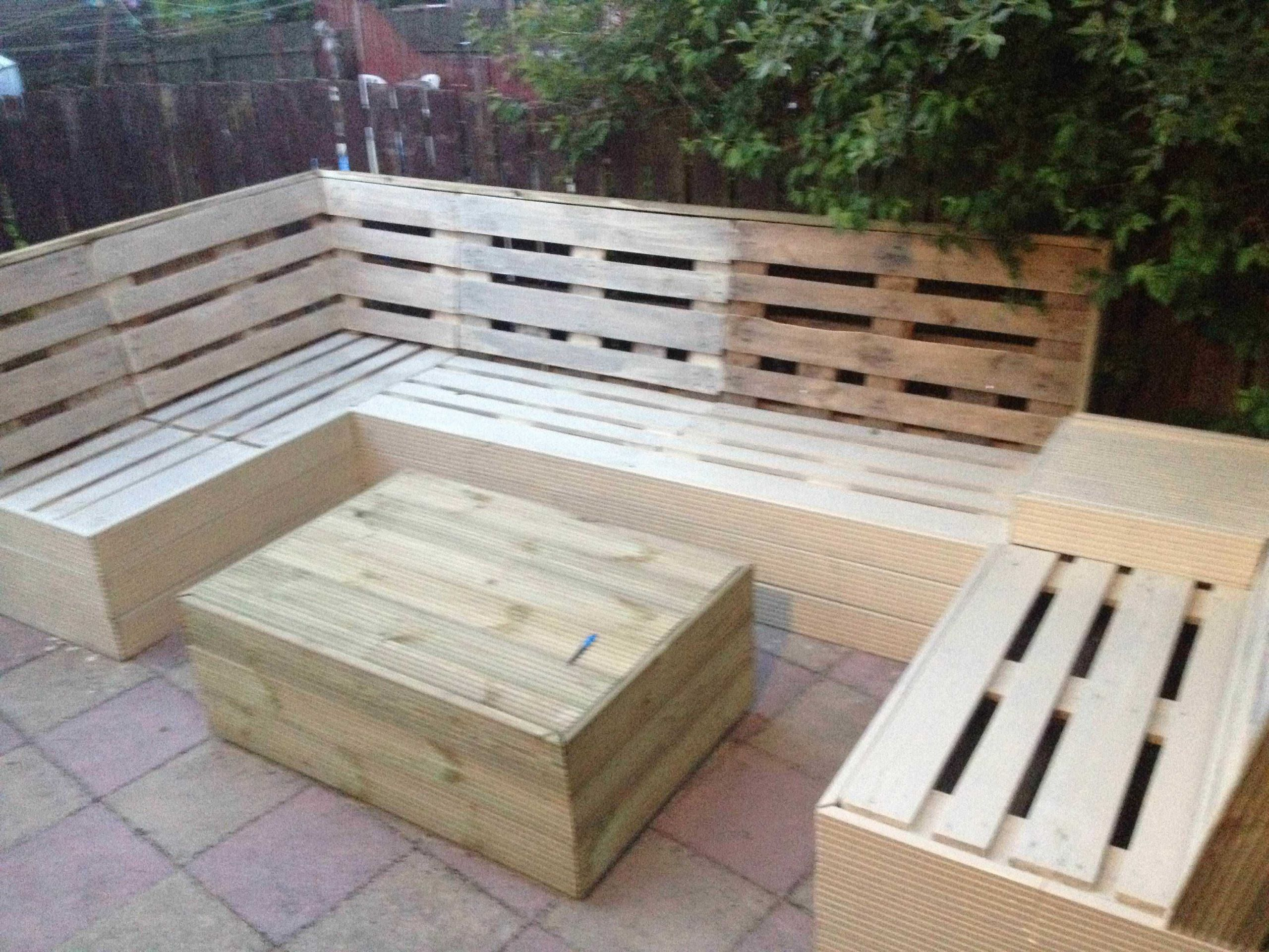 Pallet Backyard Furniture  Unique and Awesome Pallet Garden Furniture – Ideas with