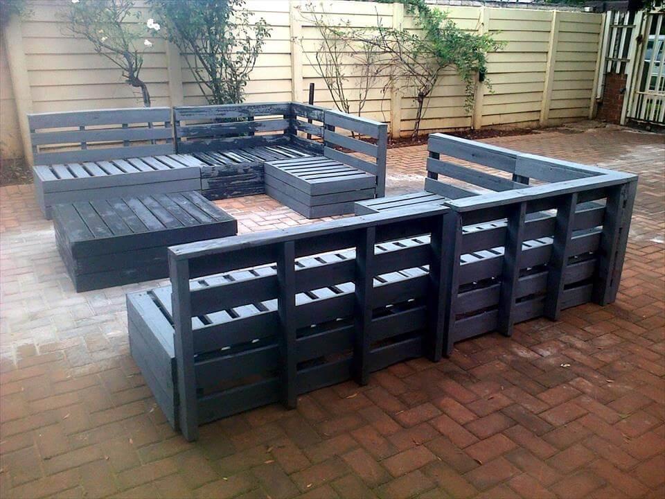 Pallet Backyard Furniture  Superb Pallet Patio Furniture Set – 101 Pallets