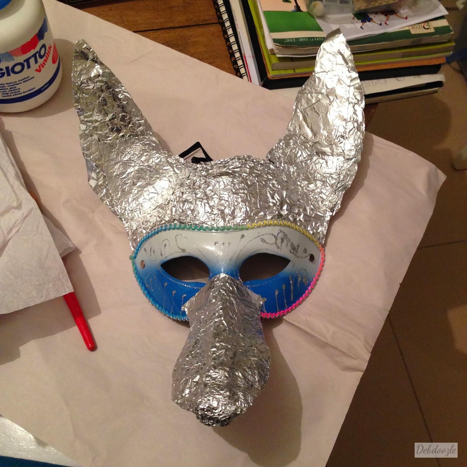 Paper Mache Mask DIY  Debdoozle DIY Papier Mâché Paper Mache Anubis Jackal Mask