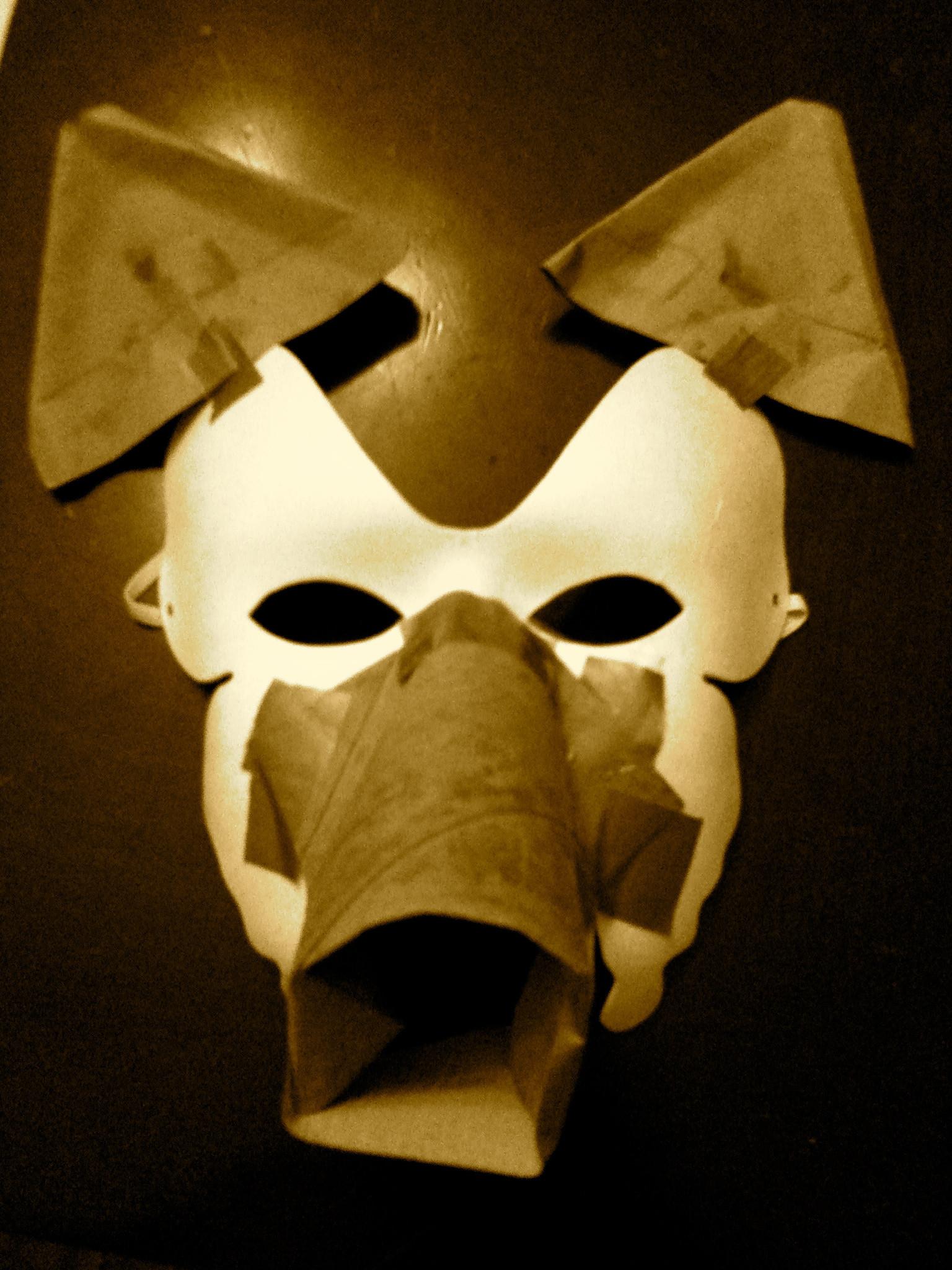 Paper Mache Mask DIY  DIY Papier mâché wolf mask