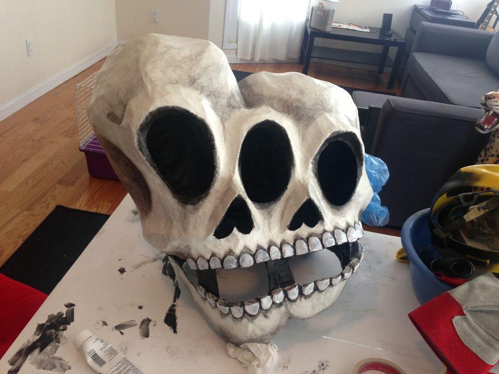 Paper Mache Mask DIY  how to make a paper mache skull mask