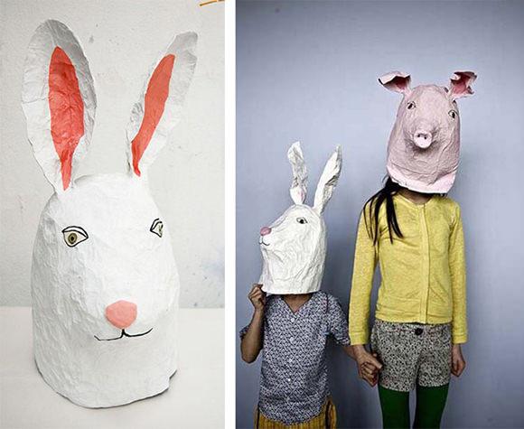 Paper Mache Mask DIY  10 DIY Cardboard & Paper Masks for Halloween
