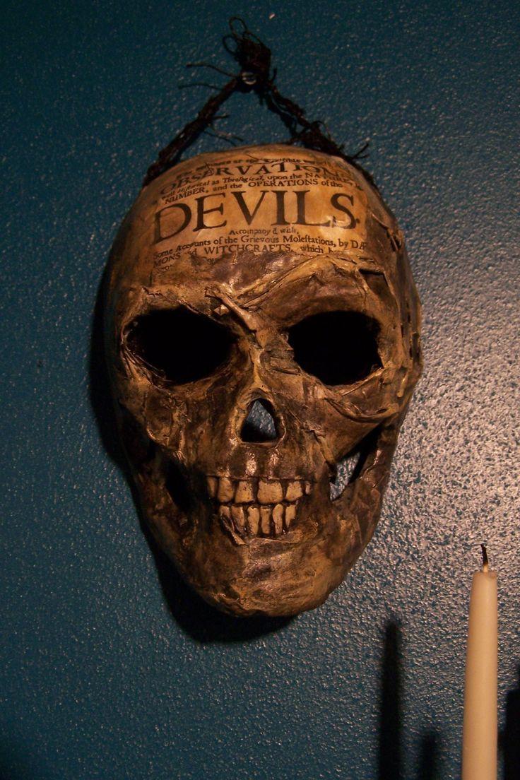 Paper Mache Mask DIY  DIY Paper Mache skull mask skullish