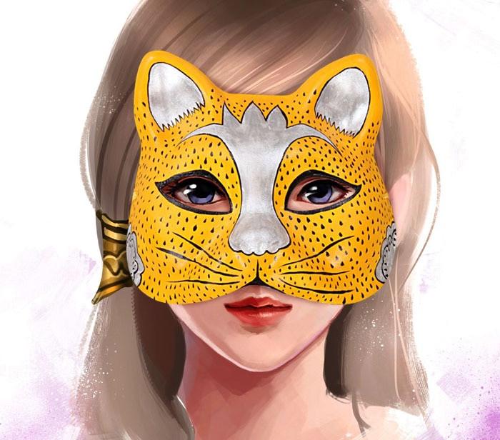 Paper Mache Mask DIY  New Quality Handmade DIY Mask Halloween Small Silver