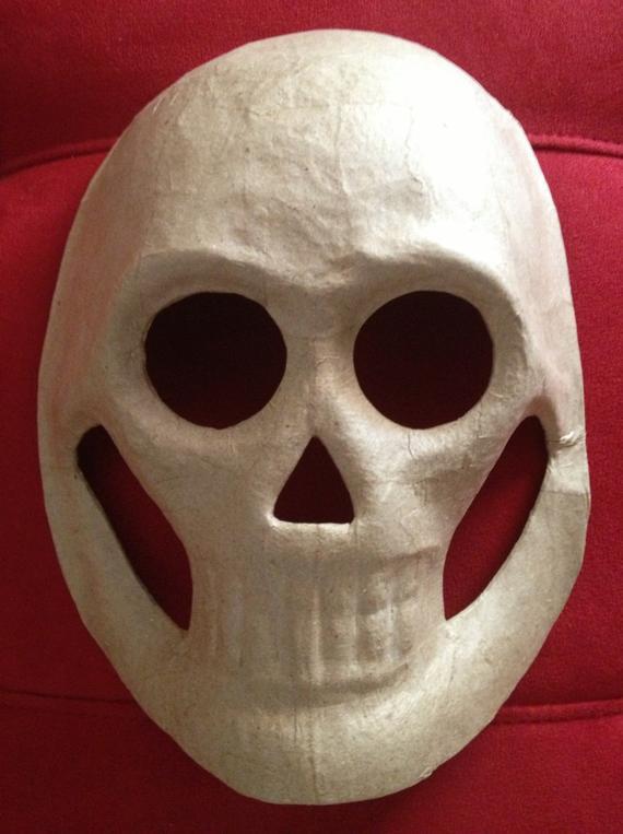 Paper Mache Mask DIY  DIY 5 LARGE MASKS Paper Mache Skull Masks Day by