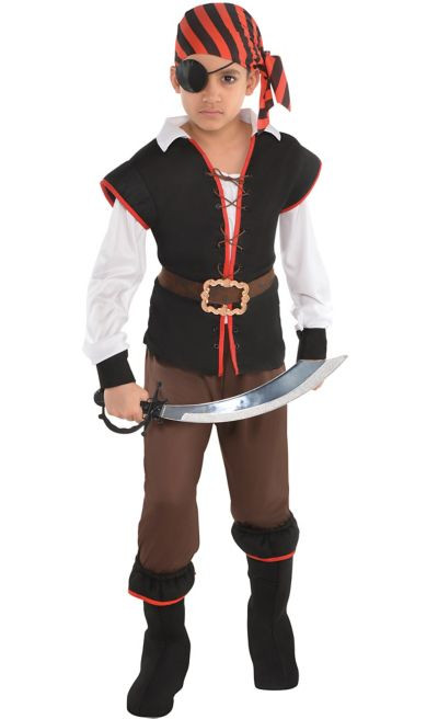 Party City Costumes Kids Boys  Boys Rebel of the Sea Pirate Costume Party City