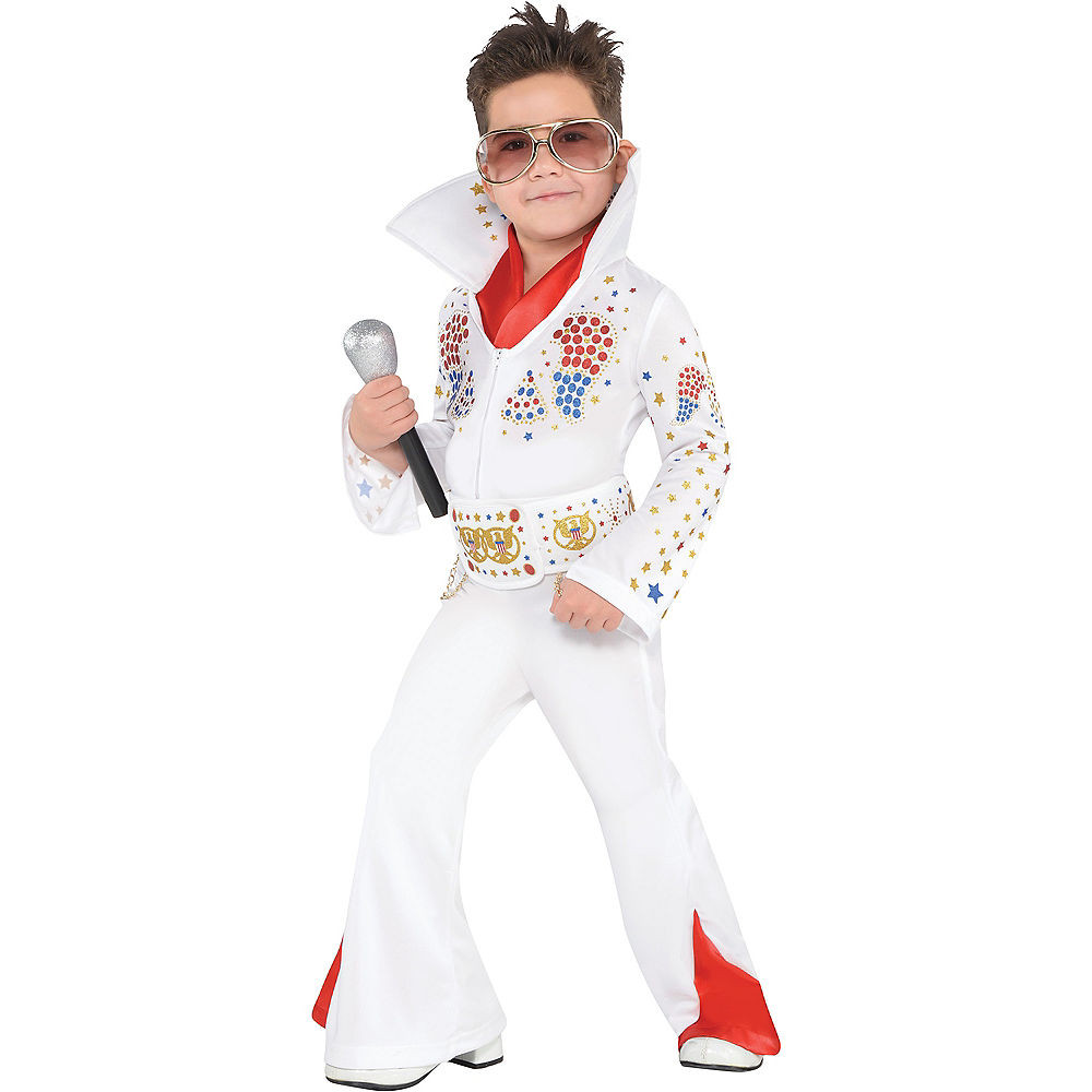 Party City Costumes Kids Boys  Toddler Boys King of Rock n Roll Costume
