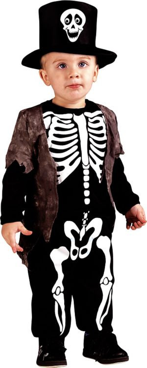 Party City Costumes Kids Boys  Toddler Boys Happy Skeleton Costume Party City