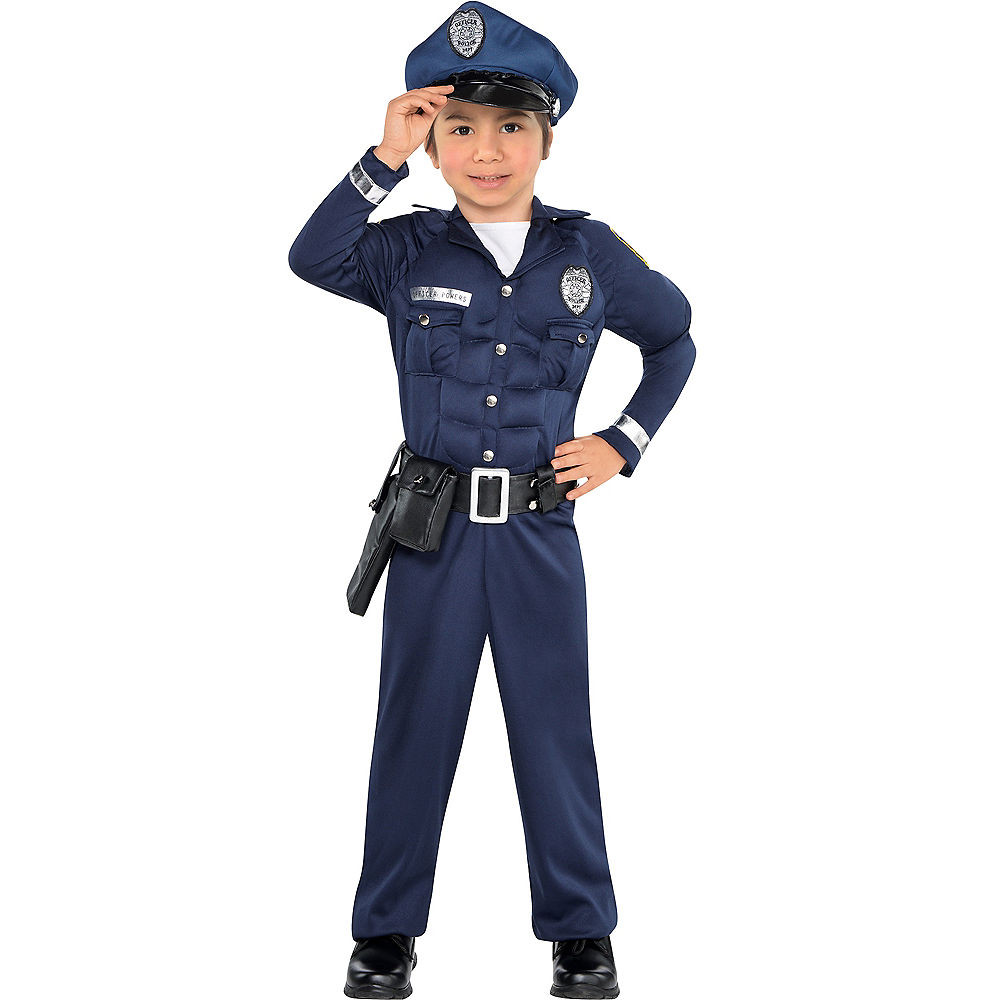 Party City Costumes Kids Boys  Toddler Boys Cop Muscle Costume
