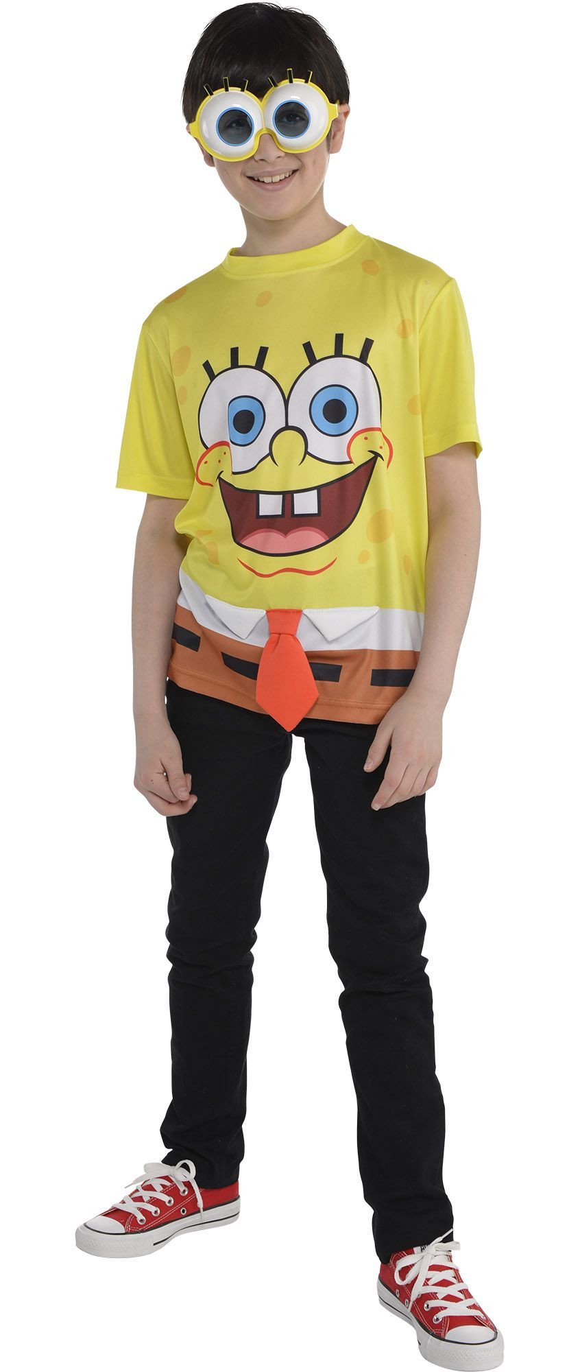 Party City Costumes Kids Boys  Create Your Own Boys SpongeBob Costume Accessories